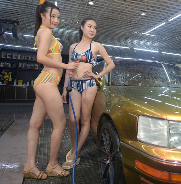 太原洗车店又推比基尼美女洗车服务【5】