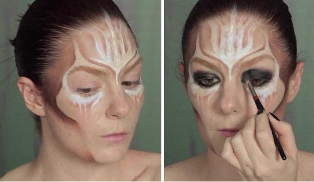 英彩妆大师打造夸张万圣节变妆教程图片