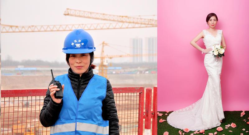 """""""女工秒变女神""""中建三局为女工友们拍写真庆贺妇女节"""