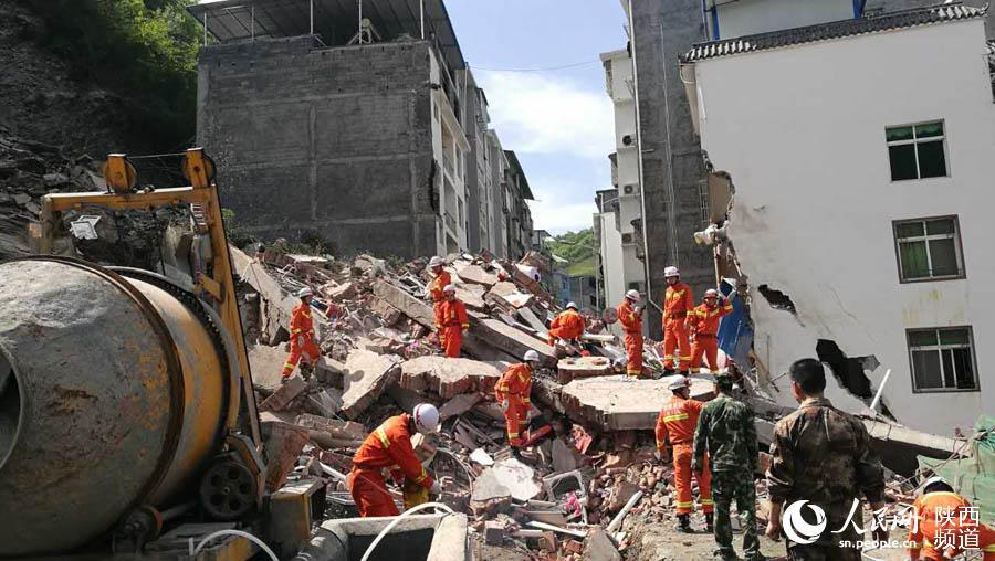 陕西白河县发生山体滑塌事件 8人下落不明