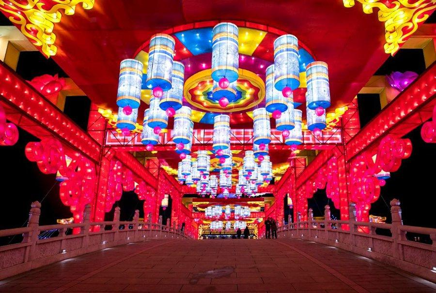 2018西安大唐芙蓉園燈會上演視覺盛宴圖片