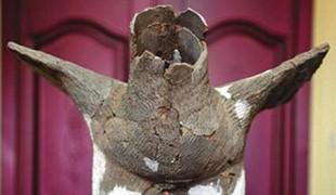 神木石峁遗址发现4000年前大型陶鹰        考古人员在位于遗址核心区的皇城台东护墙北段发掘出土一百余片卜骨和包括万余枚骨针在内的大量骨器。考古工作者还发现了造型生动的大型陶鹰。