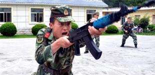 武警西藏林芝支队开展练兵活动