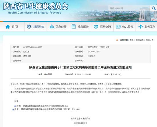 收藏!陕西发布新型冠状病毒感染的肺炎中医药防治方案